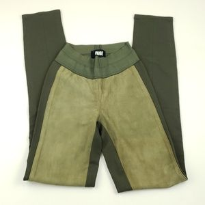 Paige suede two tone green leggings size xsmall